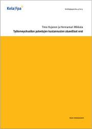 Työterveyshuollon palvelujen kustannusten alueelliset erot (Kela, 2013)